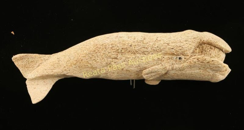 Lot of whale bone carvings