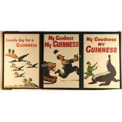 Lot of 3 Guinness Advertiser Posters
