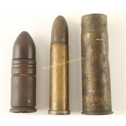 Lot of 3 Large Military Type Cartridges