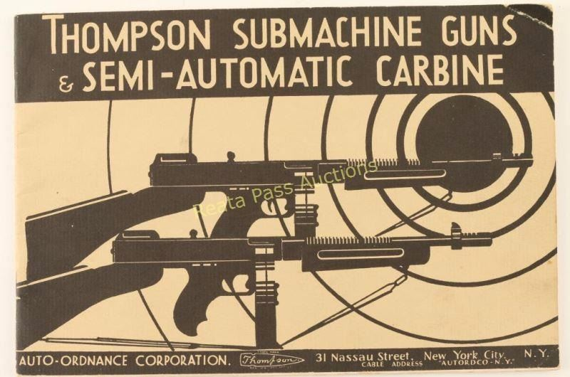 Original Thompson Submachine Gun Manual