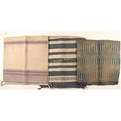 Lot of 3 Double Fold Navajo Saddle Blankets