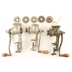 Collection of 3 Winchester Meat Grinders