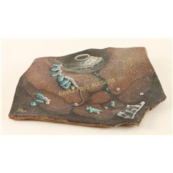 Painting on Slab of Clay