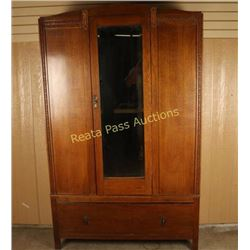 Quarter Sawn Oak Armoire
