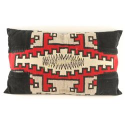 Native American Hand Woven Wool Pillow