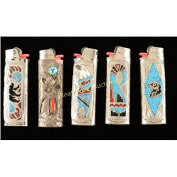 Lot of 5 Lighter Covers