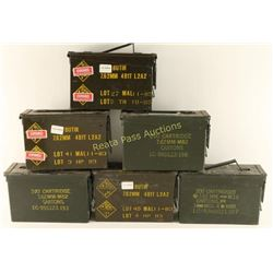 Lot of 6 Green Ammo Cans