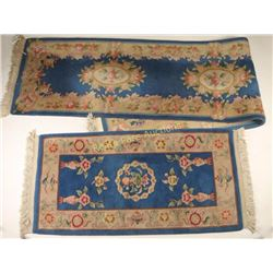 Lot of 2 Wool Chinese Rugs