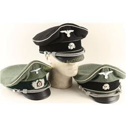 Lot of 3 Repro WWII Nazi Visor Caps