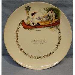 """Toston, MT Hardware 7 1/2"""" advertising plate, rare; 3 E. C. Moran, Stanford, MT shipping tags"""
