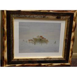 "William Standing, framed print,  12"" x 1 6"", #966/1000"