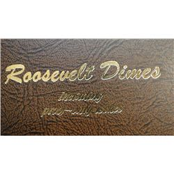 Roosevelt Dimes, 182 total coins, includes proof only issues 1946-2007-S, 1946-1964 silver coinage,