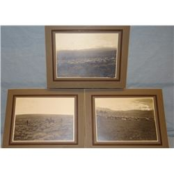 "3 early Montana 7"" x 5"" ranch photos, F. E. Van Voast, Townsend, MT photographer, signed"