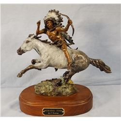 "Jay Contway, Morning Star bronze ,  11"" w x 12"" h, 31/50"