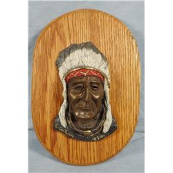 "Bruce Contway,  The Chief, 3"" x 5"", 89/100, wall mt"