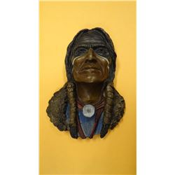 "Bruce Contway, Indian Warrior, 5"" x 7.5"", 25/100, wall mt"