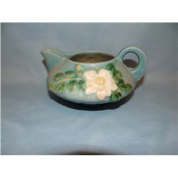 Roseville White Rose creamer, 1C,