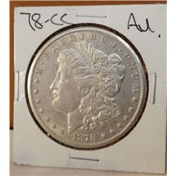 1878-CC Morgan dollar, A. U.
