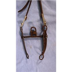 G. S. Garcia iron bit in split ear headstall, rare