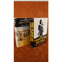 2 books: Plainsmen Of The Yellowstone, Brown, dj, 1st, 1961; The Flight of The Nez Perce