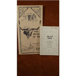 2 books:The Cattle Drive of 89; Brand Book of Eastern Montana Counties, both soft covers