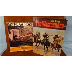 2 books: History of the Great Northern RR, Hidy & Scott, 1988, dj