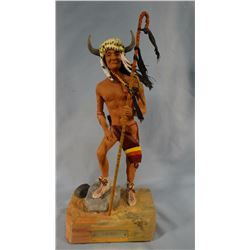"Jim Pasma  (1933-1999) resin sculpture, Iron Bull, 12"" h x 6"" w, 1970"