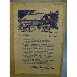 Card from Joe DeYoung to Al Lucke, Havre, MT, 1859