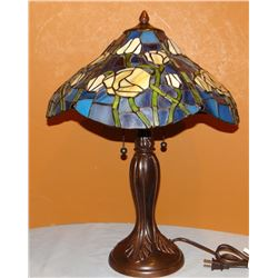 Leaded glass lamp, electric