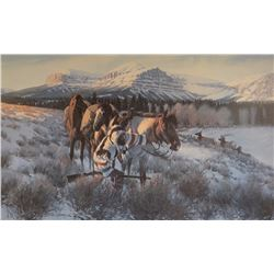 "Gary Carter, Camp Meat print, matted, 18"" x 30"", 864/1000"