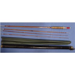 Montague Red Wing bamboo fly rod in case, extra tip,  excellent condition