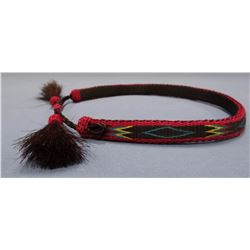 Hitched Horsehair Hatband, South Dakota State Prison
