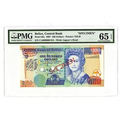 Central Bank of Belize, 1997, Specimen Banknote