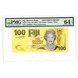 Reserve Bank of Fiji, ND (2007), Proof Banknote