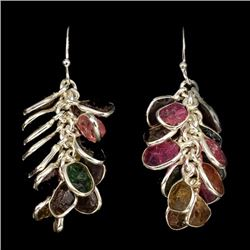 Natural Rough Tourmaline Earrings