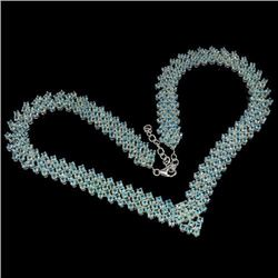 Natural Neon Blue Apatite 380 Carats Necklace