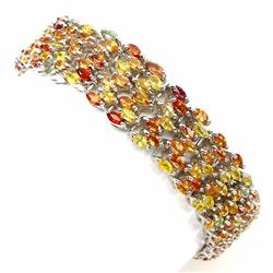 Natural Fancy Color Sapphire 172 Carats Bracelet