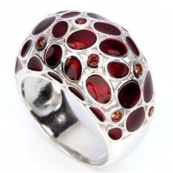 Stunning Natural Garnet Ring