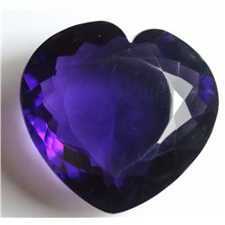 Natural Color Changing Amethyst Heart 277.55 Carats