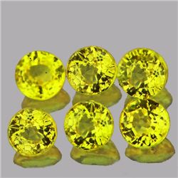 Round Natural Intense Yellow Sapphire 3.5 MM