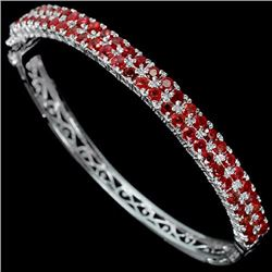 Stunning Natural Red Ruby 6.85 Carats Bangle