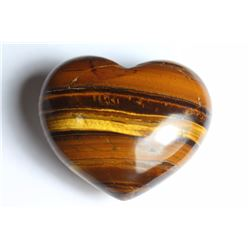 Natural Tigers Eye Heart 267.25 carats