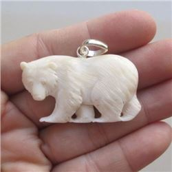 Hand Carved Bear Pendant
