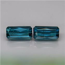 Natural Top Blue Indicolite  Tourmaline Pair 2.10 Ct