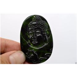 Natural Jade Hand Carved Good Luck Buddha Pendant