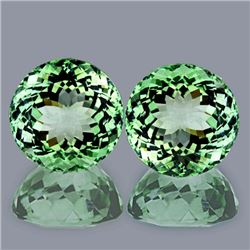 Natural Healing Green Amethyst Pair 9.50 mm - Flawless