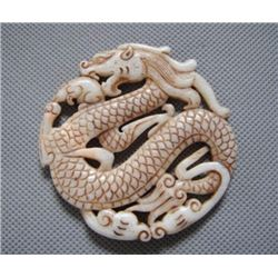 Hand Carved Jade Dragon Pendant