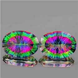 Natural Rainbow mystic Topaz Pair 21.01 cts - Flawless