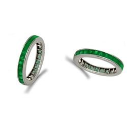 Natural Emerald & Solid Gold Eternity Band