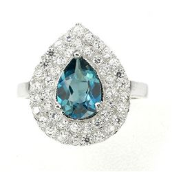 Natural London Blue Topaz Ring